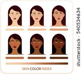 skin color index infographic in ... | Shutterstock .eps vector #540534634