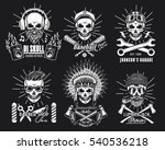 set of brutal skulls.vector... | Shutterstock .eps vector #540536218