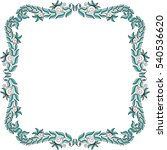 beautiful frame of leaves.... | Shutterstock .eps vector #540536620