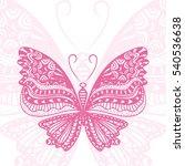 beautiful butterfly. vector... | Shutterstock .eps vector #540536638
