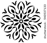flower mandala. decorative... | Shutterstock .eps vector #540537133