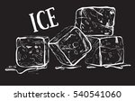 hand drawn sketch ice cube. eco ... | Shutterstock .eps vector #540541060
