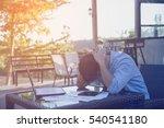 stress at work   | Shutterstock . vector #540541180
