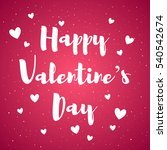 happy valentines day card with...   Shutterstock .eps vector #540542674