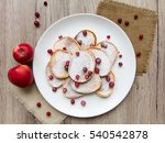 home made pancakes with... | Shutterstock . vector #540542878