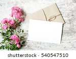 blank white greeting card and... | Shutterstock . vector #540547510