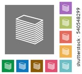 paper stack flat icons on... | Shutterstock .eps vector #540548299