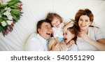 big close knit family from four ... | Shutterstock . vector #540551290