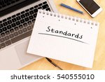 standards   handwritten text in ... | Shutterstock . vector #540555010