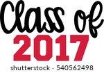 class of 2017 written | Shutterstock .eps vector #540562498
