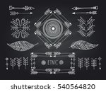 set of creative boho style... | Shutterstock .eps vector #540564820