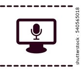 microphone icon  flat design...