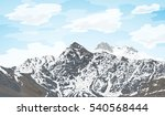 picture of a snowy mountain... | Shutterstock .eps vector #540568444