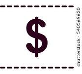 dollar icon  flat design style | Shutterstock .eps vector #540569620