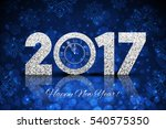 2017 happy new year background... | Shutterstock . vector #540575350