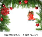 christmas background with fir... | Shutterstock . vector #540576064