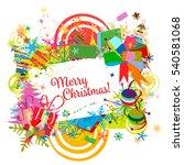 christmas frame for your design.... | Shutterstock .eps vector #540581068