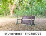 wooden classic outdoor hanging... | Shutterstock . vector #540585718