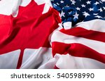 american and canadian flags... | Shutterstock . vector #540598990