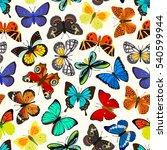 butterflies seamless pattern | Shutterstock .eps vector #540599944