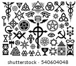 medieval occult signs and magic ... | Shutterstock . vector #540604048