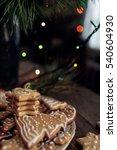 gingerbread cookies decorated... | Shutterstock . vector #540604930