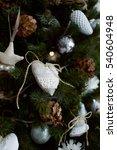 christmas tree decoration.... | Shutterstock . vector #540604948