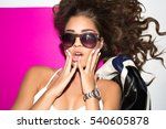 bright positive fashion studio... | Shutterstock . vector #540605878