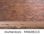 teak wood table top with grunge ... | Shutterstock . vector #540608113