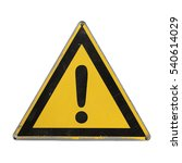 Warning Danger. Yellow Triangl...
