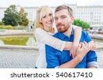 romantic couple in city   Shutterstock . vector #540617410