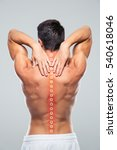 back view portrait of a man...   Shutterstock . vector #540618046