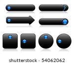 buttons for web  black with... | Shutterstock .eps vector #54062062