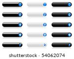 web buttons  black and white... | Shutterstock .eps vector #54062074