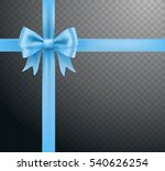 blue bow ribbon knot on... | Shutterstock .eps vector #540626254