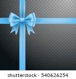 blue bow ribbon knot on... | Shutterstock .eps vector #540626254