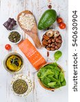 selection of nutritive food  ... | Shutterstock . vector #540630904