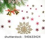 christmas background with fir... | Shutterstock . vector #540633424