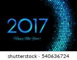 2017 happy new year purple... | Shutterstock . vector #540636724