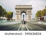 triumphal arch. paris. france.... | Shutterstock . vector #540636826