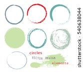 set of empty hand drawn circles ... | Shutterstock .eps vector #540638044