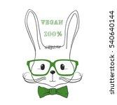 vegetarian cute rabbit with... | Shutterstock .eps vector #540640144