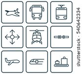 set of 9 transportation icons.... | Shutterstock .eps vector #540642334
