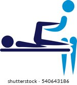 physical therapy   abstract icon | Shutterstock .eps vector #540643186