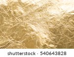 gold wrinkled paper texture... | Shutterstock . vector #540643828