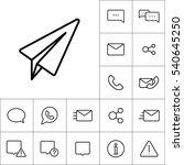 thin line telegram  plane icon... | Shutterstock .eps vector #540645250