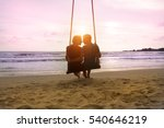 romantic couple is sitting and... | Shutterstock . vector #540646219