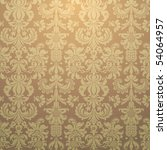 Ornate damask Seamless Gold Wallpaper - stock vector