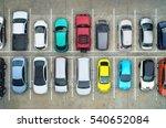 empty parking lots  aerial view.   Shutterstock . vector #540652084