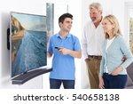 man demonstrating new... | Shutterstock . vector #540658138